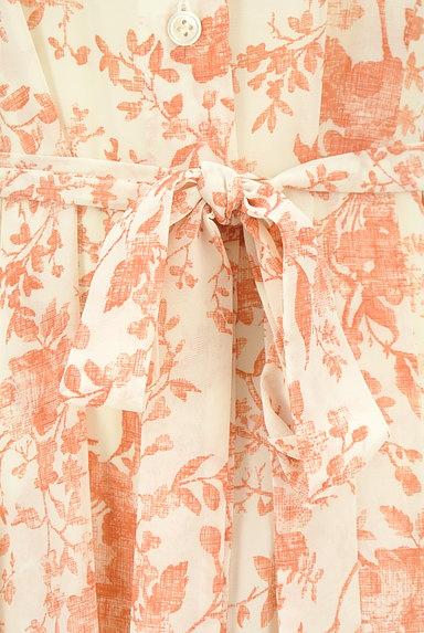 STRAWBERRY-FIELDS(ストロベリーフィールズ)の古着「こすれ花柄ロングシャツワンピース(ワンピース・チュニック)」大画像5へ