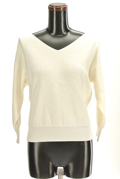 PROPORTION BODY DRESSING(プロポーションボディ ドレッシング)の古着「バック刺繍ネック7分袖ニット(ニット)」大画像1へ