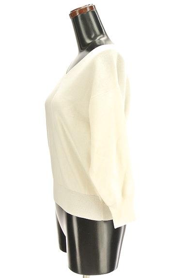 PROPORTION BODY DRESSING(プロポーションボディ ドレッシング)の古着「バック刺繍ネック7分袖ニット(ニット)」大画像3へ
