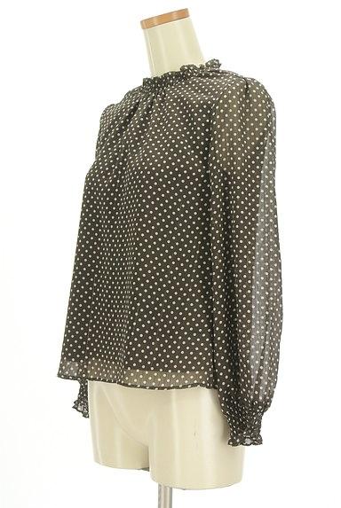 PROPORTION BODY DRESSING(プロポーションボディ ドレッシング)の古着「シースルー袖ドット柄プルオーバー(カットソー・プルオーバー)」大画像3へ