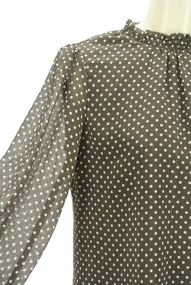 PROPORTION BODY DRESSING(プロポーションボディ ドレッシング)の古着「シースルー袖ドット柄プルオーバー(カットソー・プルオーバー)」大画像4へ