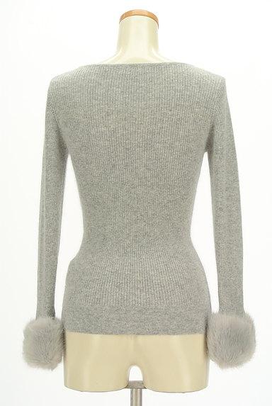 PROPORTION BODY DRESSING(プロポーションボディ ドレッシング)の古着「袖ファーリブニット(ニット)」大画像2へ