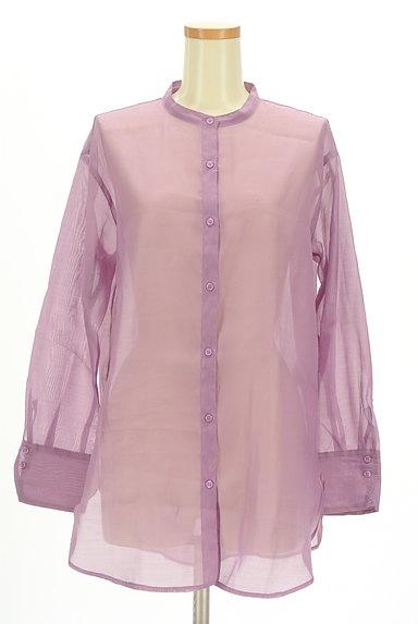 Te chichi(テチチ)の古着「カラーシアーロングシャツ(カジュアルシャツ)」大画像1へ
