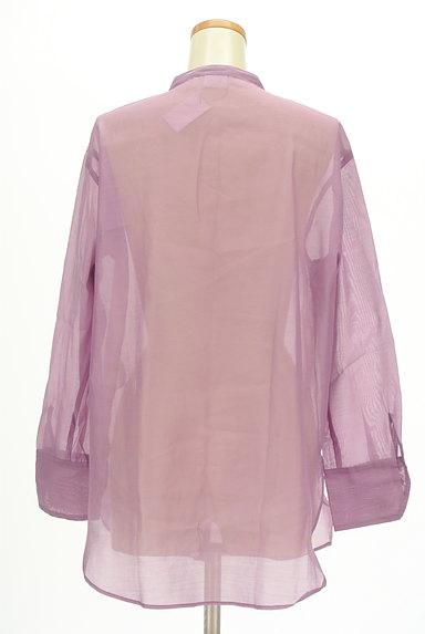 Te chichi(テチチ)の古着「カラーシアーロングシャツ(カジュアルシャツ)」大画像2へ