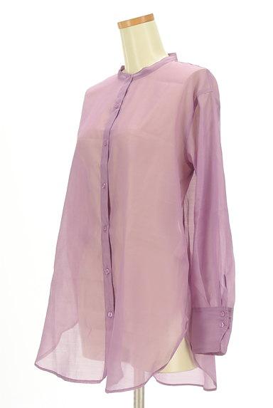 Te chichi(テチチ)の古着「カラーシアーロングシャツ(カジュアルシャツ)」大画像3へ