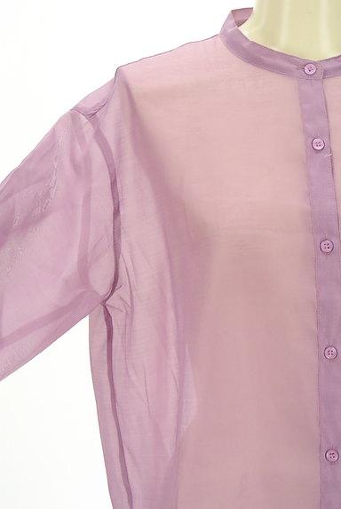 Te chichi(テチチ)の古着「カラーシアーロングシャツ(カジュアルシャツ)」大画像4へ
