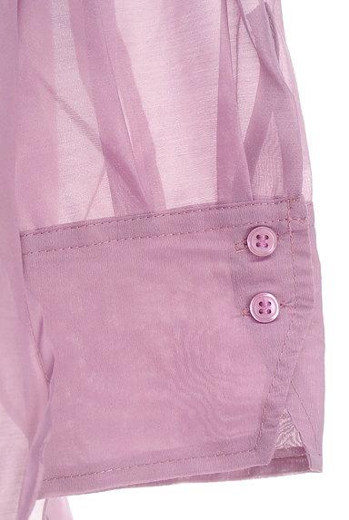 Te chichi(テチチ)の古着「カラーシアーロングシャツ(カジュアルシャツ)」大画像5へ