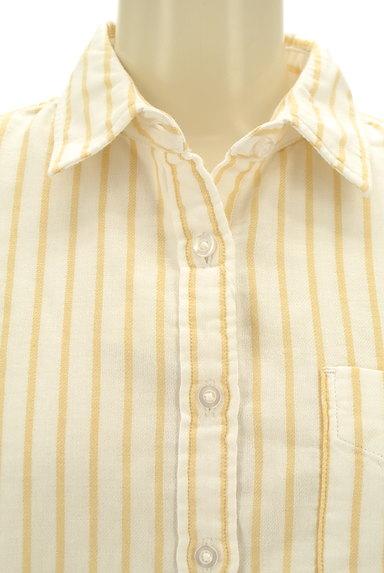 coen(コーエン)の古着「ワンポイントストライプ柄シャツ(カジュアルシャツ)」大画像5へ