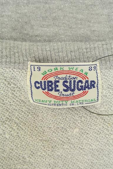 CUBE SUGAR(キューブシュガー)の古着「ロゴスウェットトップス(スウェット・パーカー)」大画像6へ