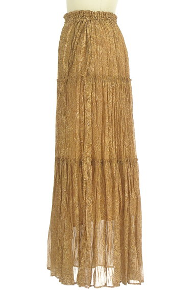 FRAY I.D(フレイアイディー)の古着「ペイズリー柄ロングティアードスカート(ロングスカート・マキシスカート)」大画像3へ