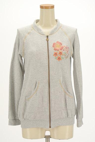 TOCCA(トッカ)の古着「刺繍&ラメステッチジップパーカー(スウェット・パーカー)」大画像1へ