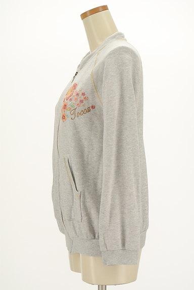 TOCCA(トッカ)の古着「刺繍&ラメステッチジップパーカー(スウェット・パーカー)」大画像3へ