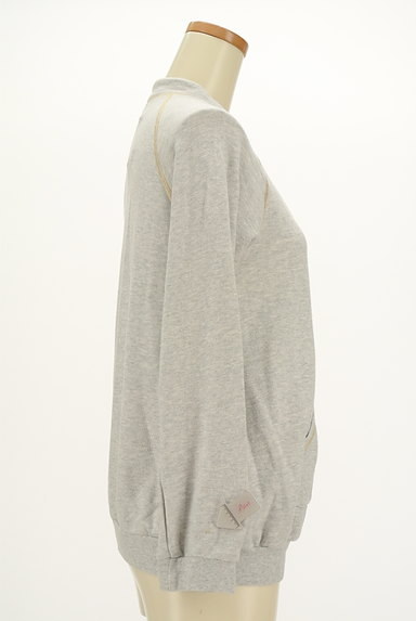 TOCCA(トッカ)の古着「刺繍&ラメステッチジップパーカー(スウェット・パーカー)」大画像4へ