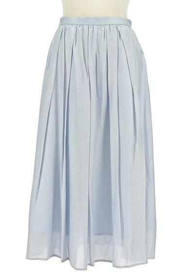 JUSGLITTY(ジャスグリッティー)の古着「パステルギャザーフレアロングスカート(ロングスカート・マキシスカート)」大画像1へ