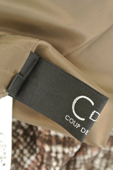 COUP DE CHANCE(クードシャンス)の古着「ブラウンツイードミモレワンピ(ワンピース・チュニック)」大画像6へ