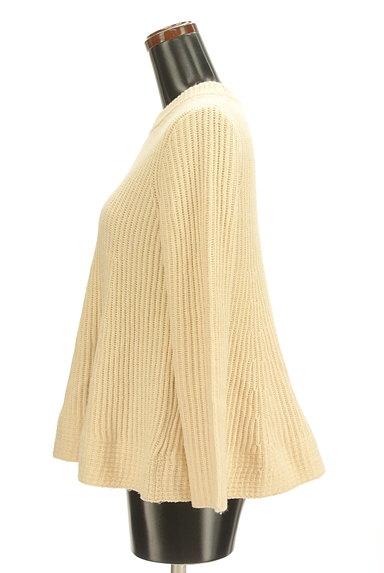 Mila Owen(ミラオーウェン)の古着「ペプラムフレア起毛ニット(ニット)」大画像3へ