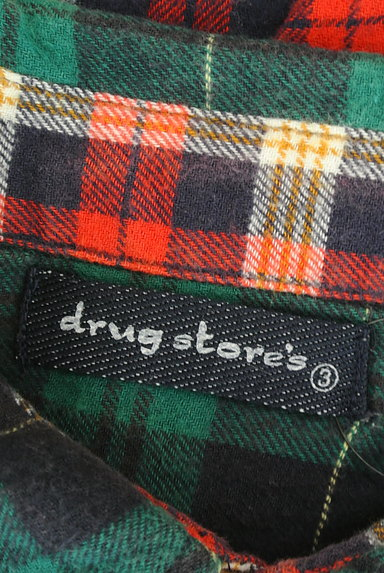 drug store's(ドラッグストアーズ)の古着「パッチワーク風切替チェック柄シャツ(カジュアルシャツ)」大画像6へ
