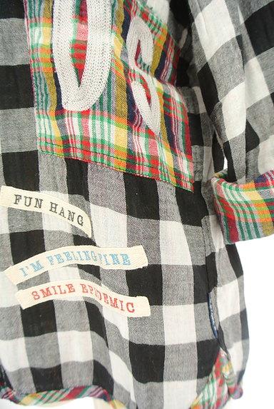drug store's(ドラッグストアーズ)の古着「ブタワッペン付きチェック柄シャツ(カジュアルシャツ)」大画像5へ