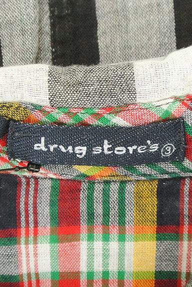 drug store's(ドラッグストアーズ)の古着「ブタワッペン付きチェック柄シャツ(カジュアルシャツ)」大画像6へ