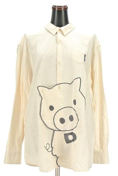 drug store's(ドラッグストアーズ)の古着「ブタさん刺繍変形ロングシャツ(カジュアルシャツ)」大画像1へ
