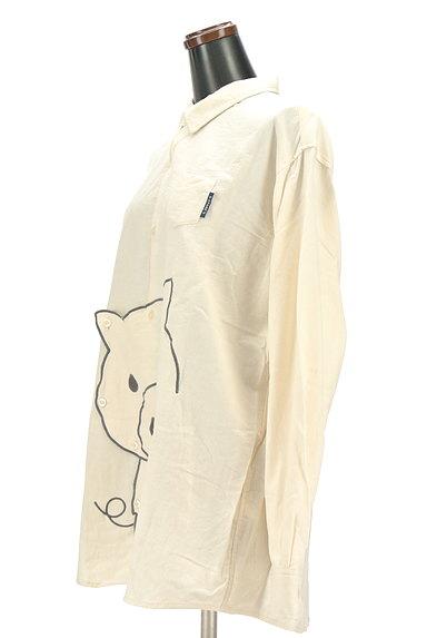 drug store's(ドラッグストアーズ)の古着「ブタさん刺繍変形ロングシャツ(カジュアルシャツ)」大画像3へ
