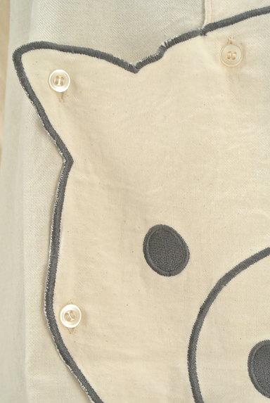drug store's(ドラッグストアーズ)の古着「ブタさん刺繍変形ロングシャツ(カジュアルシャツ)」大画像5へ