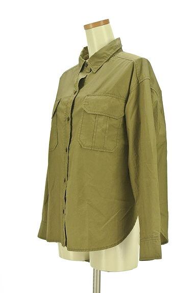 Rouge vif La cle(ルージュヴィフラクレ)の古着「ワイドミリタリーシャツ(カジュアルシャツ)」大画像3へ