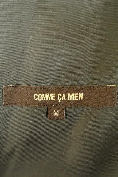COMME CA MEN(コムサメン)の古着「ニット×レザージップパーカー(カーディガン)」大画像6へ