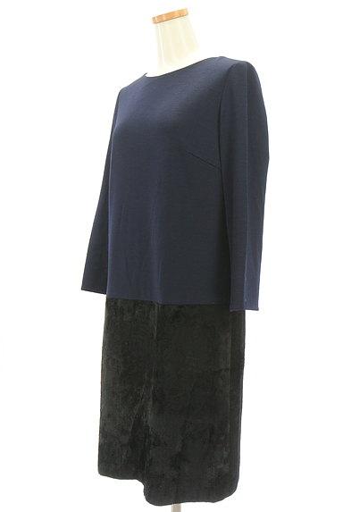 AREA FREE(自由区)の古着「ベロアドッキングワンピース(ワンピース・チュニック)」大画像3へ