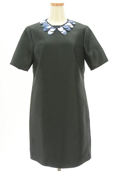 MAX&Co.(マックス&コー)の古着「ネックレス付き艶ワンピース(ワンピース・チュニック)」大画像1へ