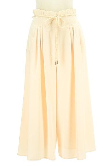 MERCURYDUO(マーキュリーデュオ)の古着「ロープベルト付きタックワイドパンツ(パンツ)」大画像1へ