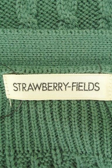 STRAWBERRY-FIELDS(ストロベリーフィールズ)の古着「リボンニット+ケーブルカーディガン(アンサンブル)」大画像6へ
