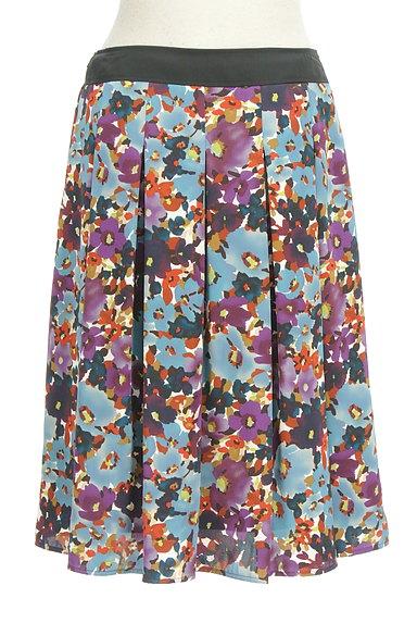 LUI CHANTANT(ルイシャンタン)の古着「膝下丈花柄サテンスカート(スカート)」大画像2へ