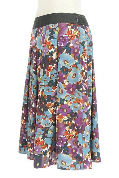 LUI CHANTANT(ルイシャンタン)の古着「膝下丈花柄サテンスカート(スカート)」大画像3へ
