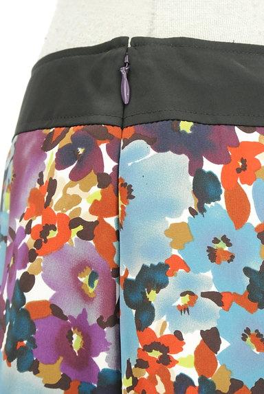 LUI CHANTANT(ルイシャンタン)の古着「膝下丈花柄サテンスカート(スカート)」大画像4へ