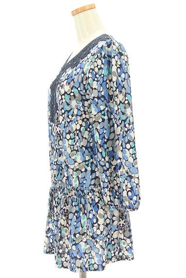 LUI CHANTANT(ルイシャンタン)の古着「花刺繍レース付き総柄ワンピース(ワンピース・チュニック)」大画像3へ