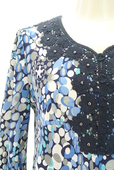 LUI CHANTANT(ルイシャンタン)の古着「花刺繍レース付き総柄ワンピース(ワンピース・チュニック)」大画像4へ