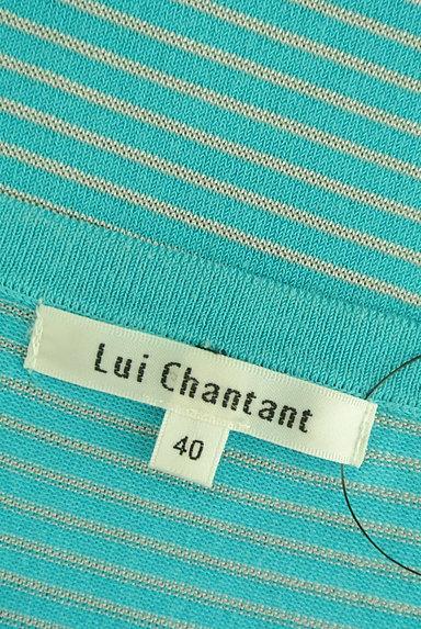 LUI CHANTANT(ルイシャンタン)の古着「ヘンリーネック七分袖ボーダーニット(ニット)」大画像6へ