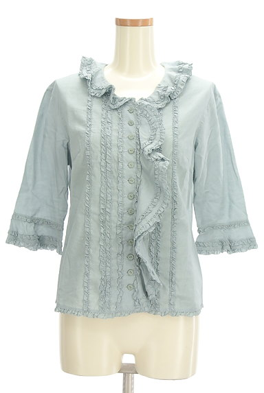 INGEBORG(インゲボルグ)の古着「七分袖フリルコットンブラウス(ブラウス)」大画像1へ