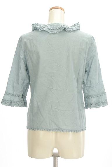 INGEBORG(インゲボルグ)の古着「七分袖フリルコットンブラウス(ブラウス)」大画像2へ