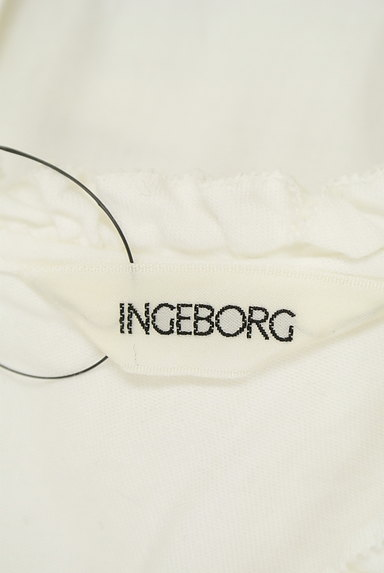 INGEBORG(インゲボルグ)の古着「ガーリーフリルコットンブラウス(カットソー・プルオーバー)」大画像6へ