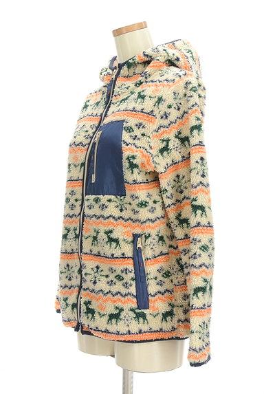 CUBE SUGAR(キューブシュガー)の古着「ノルディック柄ボアブルゾン(ブルゾン・スタジャン)」大画像3へ