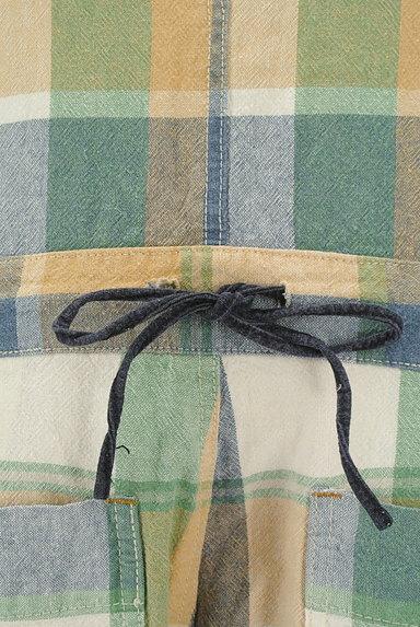 CUBE SUGAR(キューブシュガー)の古着「チェック柄コットンリネンサロペット(オーバーオール・サロペット)」大画像5へ