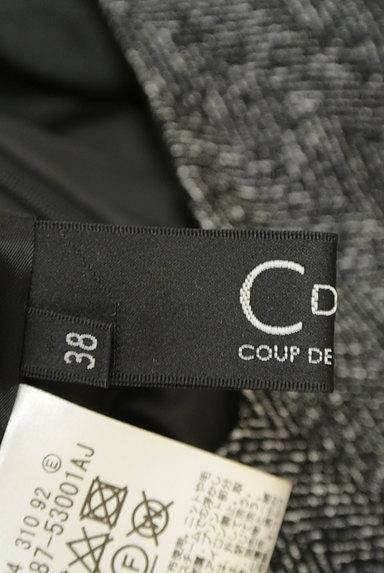 COUP DE CHANCE(クードシャンス)の古着「ヘリンボーン柄タックフレアワンピース(ワンピース・チュニック)」大画像6へ