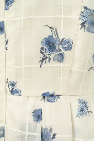 Rirandture(リランドチュール)の古着「シアーチェック花柄フレアワンピ(ワンピース・チュニック)」大画像5へ