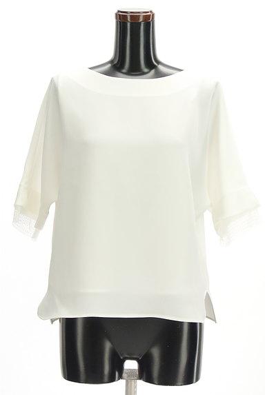 LAUTREAMONT(ロートレアモン)の古着「袖口レースドルマンシフォンブラウス(カットソー・プルオーバー)」大画像1へ