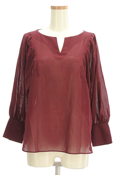 LAUTREAMONT(ロートレアモン)の古着「ボリューム袖シアーブラウス(カットソー・プルオーバー)」大画像1へ
