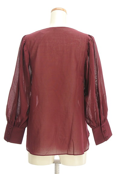 LAUTREAMONT(ロートレアモン)の古着「ボリューム袖シアーブラウス(カットソー・プルオーバー)」大画像2へ