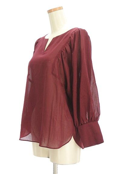 LAUTREAMONT(ロートレアモン)の古着「ボリューム袖シアーブラウス(カットソー・プルオーバー)」大画像3へ