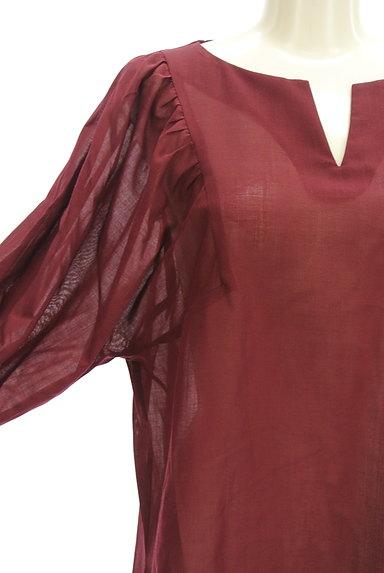 LAUTREAMONT(ロートレアモン)の古着「ボリューム袖シアーブラウス(カットソー・プルオーバー)」大画像4へ